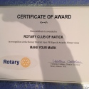 "Natick Rotary Honored with Premier ""Make Your Mark"" Award at District 7910 Awards Banquet"